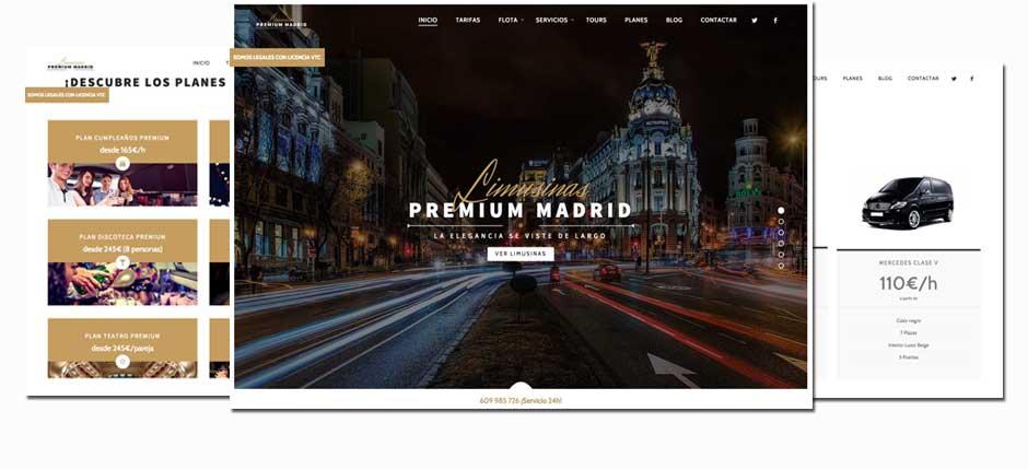 Diseño web para empresas de limusinas