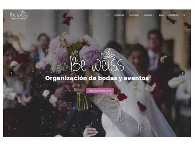 Diseño web para weddings planners