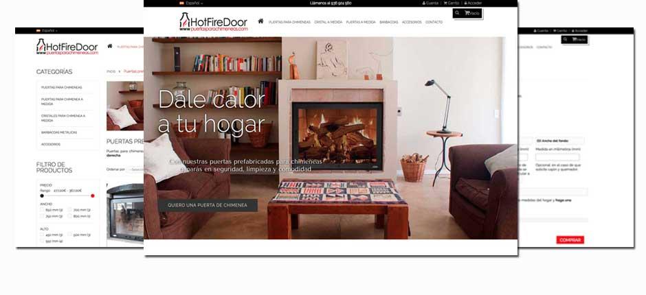 Diseño de tiendas online para chimeneas