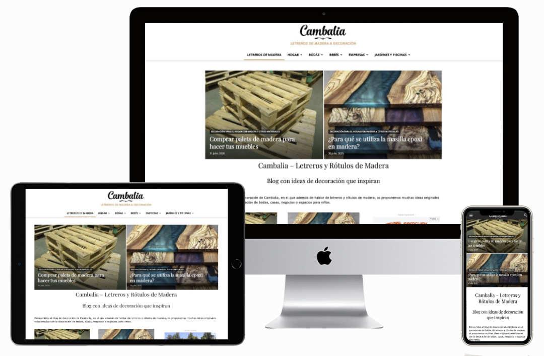 Desarrollo web de blog de decoración