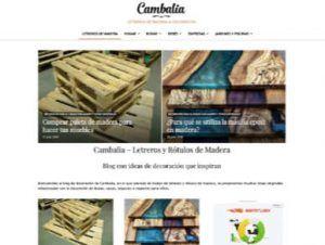Diseño web de blog de decoración