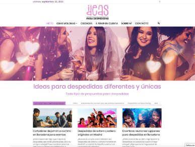 Diseño blog de fiestas