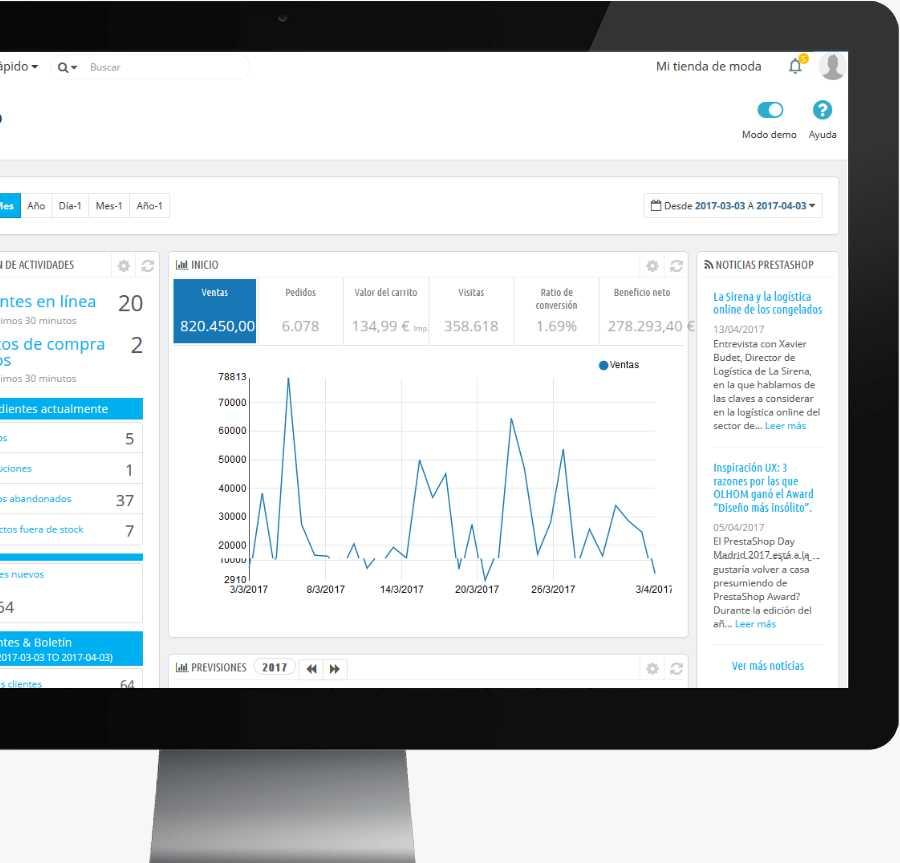 Diseño web en PrestaShop