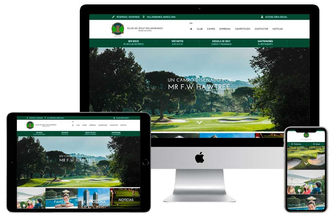 Diseño web para clubs de golf