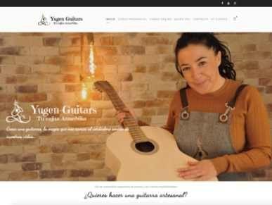 Diseño web cursos de contrucción de guitarras